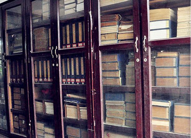 Thread bound ancient books Museum